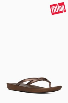 Fitflop Bronze Iqushion Ergonomic Flip Flops