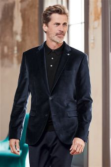 Velvet Slim Fit Jacket