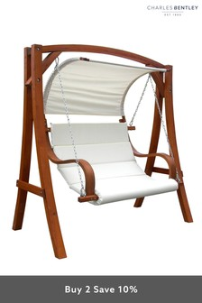 2/3 Seater Outdoor Swing Seat With Cushions By Charles Bentley