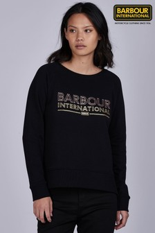 Barbour® International Black Rose Gold Logo Kendrew Sweatshirt