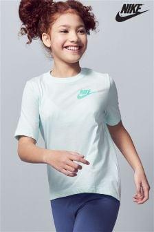 Футболка мятного цвета с завязками сзади Nike