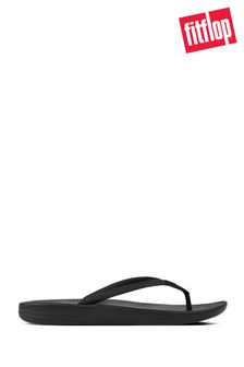 FitFlop™ Black iQushion™ Ergonomic Flip Flop