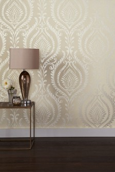 Paste The Wall Damask Wallpaper