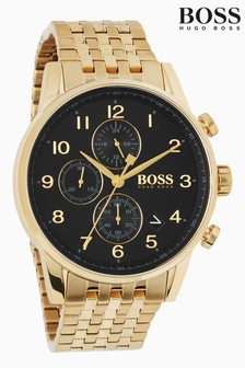 Hugo Boss Black Navigator Gold Watch