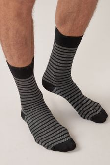 Black Pattern Socks Four Pack