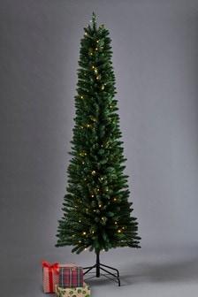 150 led slim pine 7ft christmas tree - 7ft Slim Christmas Tree