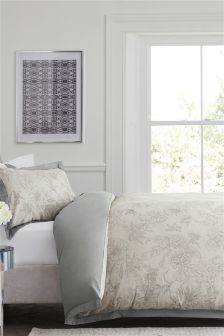 Juego de cama de jacquard con estampado de flores y pájaros Collection Luxe
