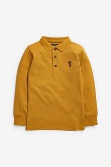 Long Sleeve Pique Polo Shirt (3-16yrs)