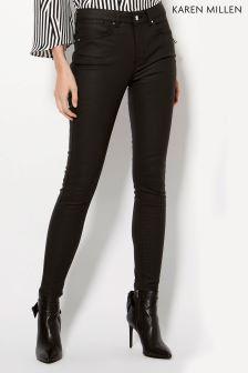 Karen Millen Black Black Coated Jean