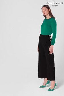 L.K.Bennett Prince Button Side Trousers