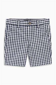 Gingham Chino Shorts (3-16yrs)