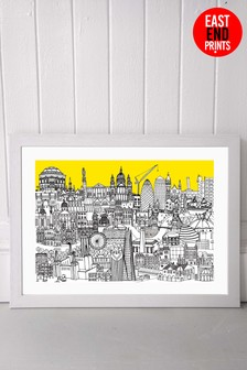 London Jungle Framed Print by East End Prints
