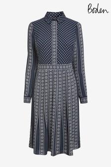 Boden Blue Clemency Shirt Dress