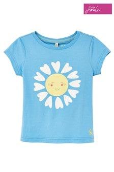 Joules Blue Daisy Pixie Screenprint T-Shirt