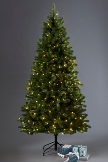 400 led collection luxe douglas fir 7ft christmas tree - Already Decorated Christmas Trees