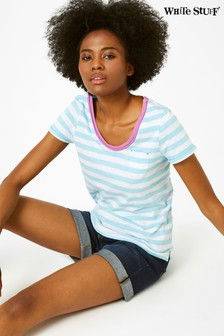 White Stuff Blue Stripe Fairtrade Jersey Tee