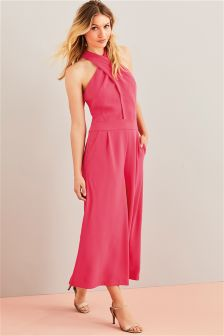 Cross Front Culotte Jumpsuit