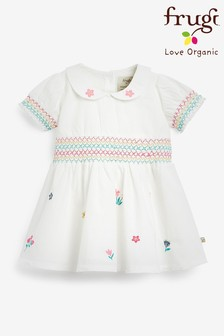 Frugi Organic Floral Embroidered Party Dress