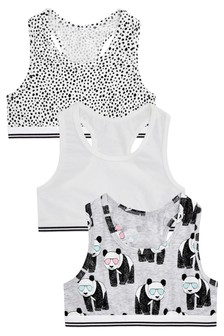 Panda Crop Tops Three Pack (Older)
