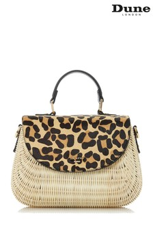 Dune London Leopard Dathryn Medium Basket Bag