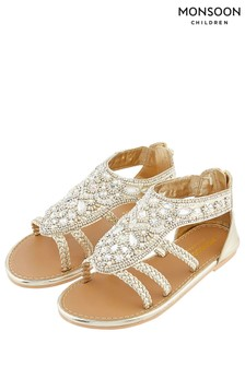 Monsoon Gold Rio Embellished Sandal