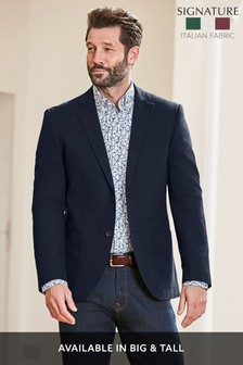 Signature Italian Cotton Tailored Fit Blazer