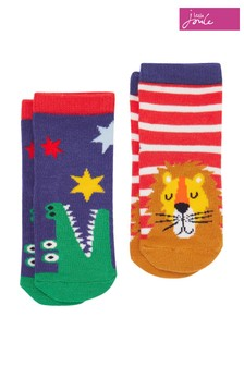 Joules White Neat Feet Character Baby Socks Two Pack