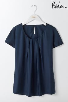 Boden Navy Ravello Top