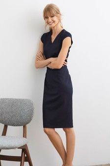 Tailored Cap Sleeve Dress