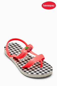 Havaianas® White Check Strappy Sandal