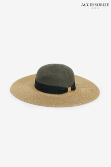 Accessorize Natural Chic Braid Floppy Hat