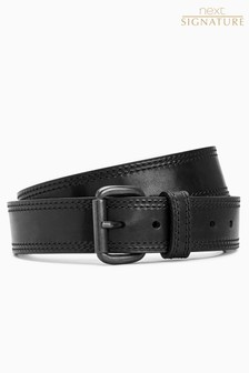 Signature Collaboration Stitched Edge Belt