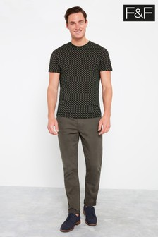 F&F Neutral Slim Stretch Chino Trouser