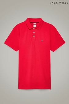 Jack Wills Red Bainlow Polo