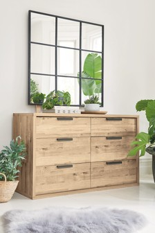 Bronx Light 6 Drawer Wide Chest