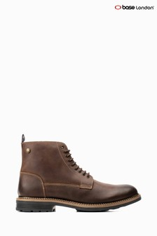 Base London® Brown Wrench Lace-Up Boots