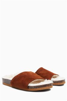Premium Suede Slider Slippers