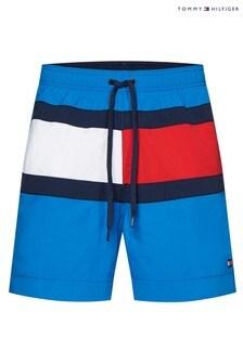 Tommy Hilfiger Blue Core Flag Medium Drawstring Swim Trunks