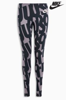 Nike Black Printed Club Legging