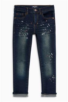 Distressed Paint Splat Jeans (3-16yrs)
