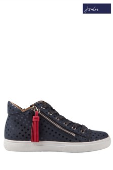 Joules Blue Runaround Hightop Trainer