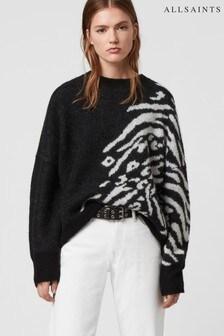 AllSaints Black Zebra Karina Jumper