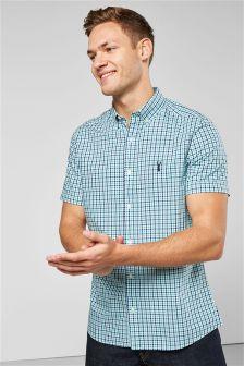 Клетчатая рубашка с коротким рукавом