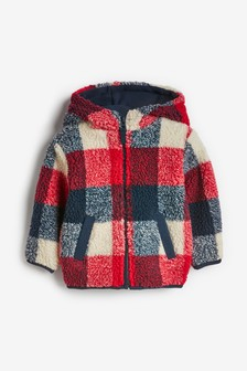Zip Through Check Fleece (3mths-7yrs)