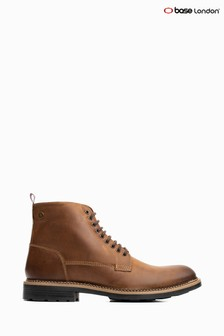 Base London® Tan Wrench Lace-Up Boots