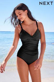 New Womens Marks /& Spencer Black /& Blue /& Green Swimming Costume Size 18