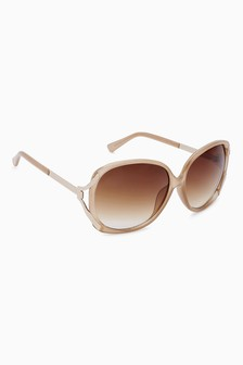 Square Metal Arm Sunglasses
