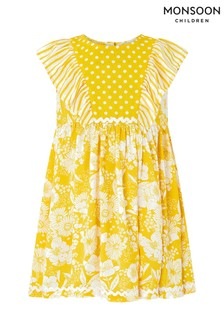 Monsoon Yellow Baby Meave Dress