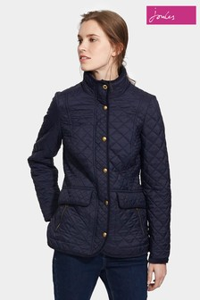 Joules Navy Quilted Newdale Coat