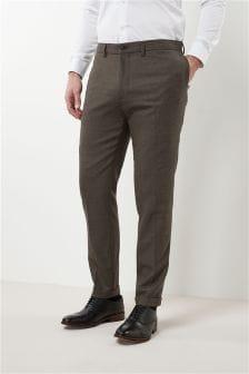 Flannel Slim Fit Plain Front Trousers